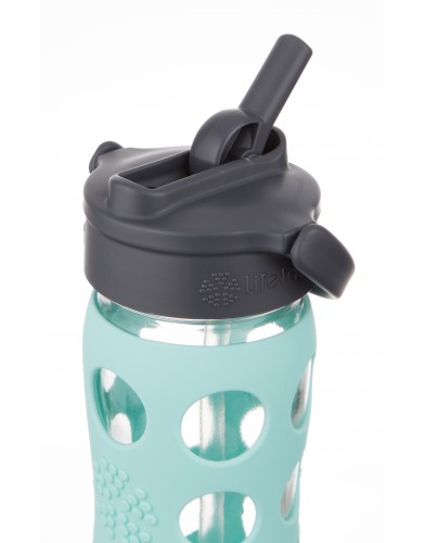 Bilde av Lifefactory 475 ml  Tourquise Straw Cap